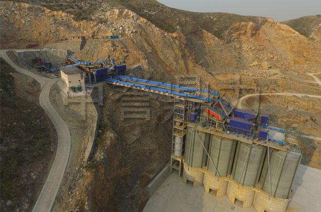 河南新乡春江水泥时产1500吨破碎生产线