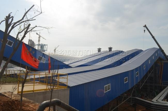 河南孟电水泥集团时产2500吨骨料破碎生产线
