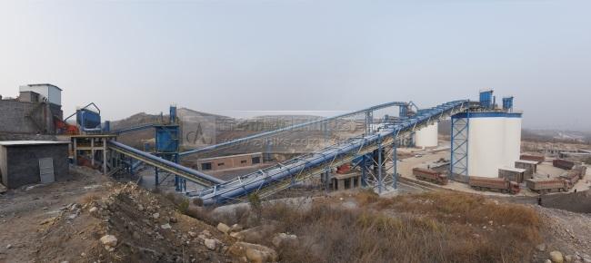 河南安阳中联水泥时产1500吨骨料生产线