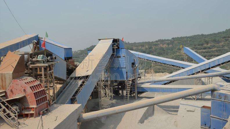 驻马店恒强矿业时产3000吨砂石骨料生产线现场图片-2