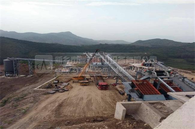 驻马店恒强矿业时产3000吨砂石骨料生产线现场图片-4