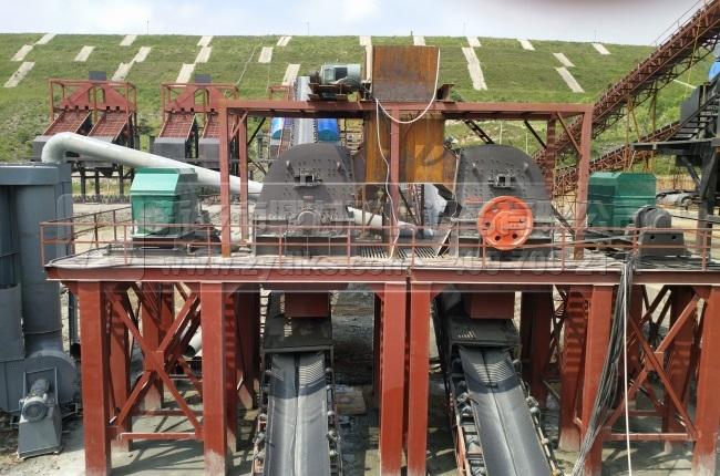 驻马店时产5000吨石料生产线_日产5万吨制砂生产线现场图片-1