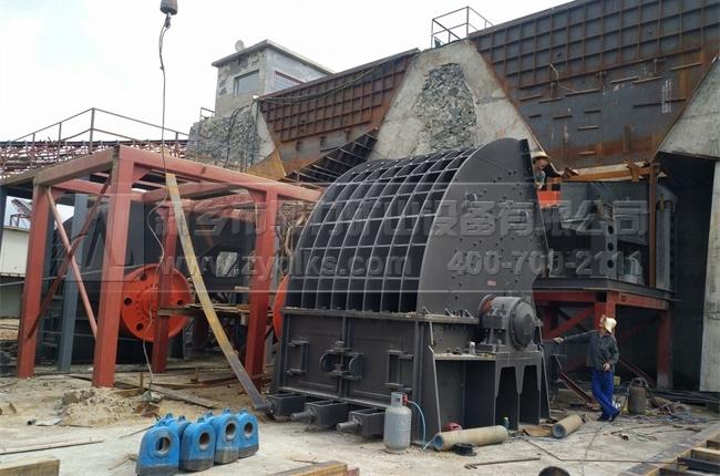 驻马店时产5000吨石料生产线_日产5万吨制砂生产线现场图片-4